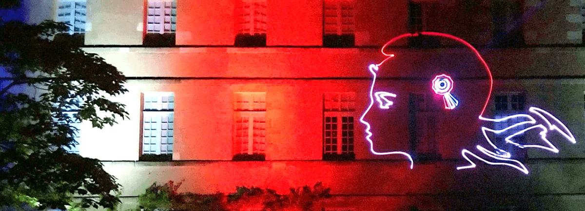 13 juillet 2021 - Montmorillon - Illumination de la façade de la Maison Dieu et Laser Show