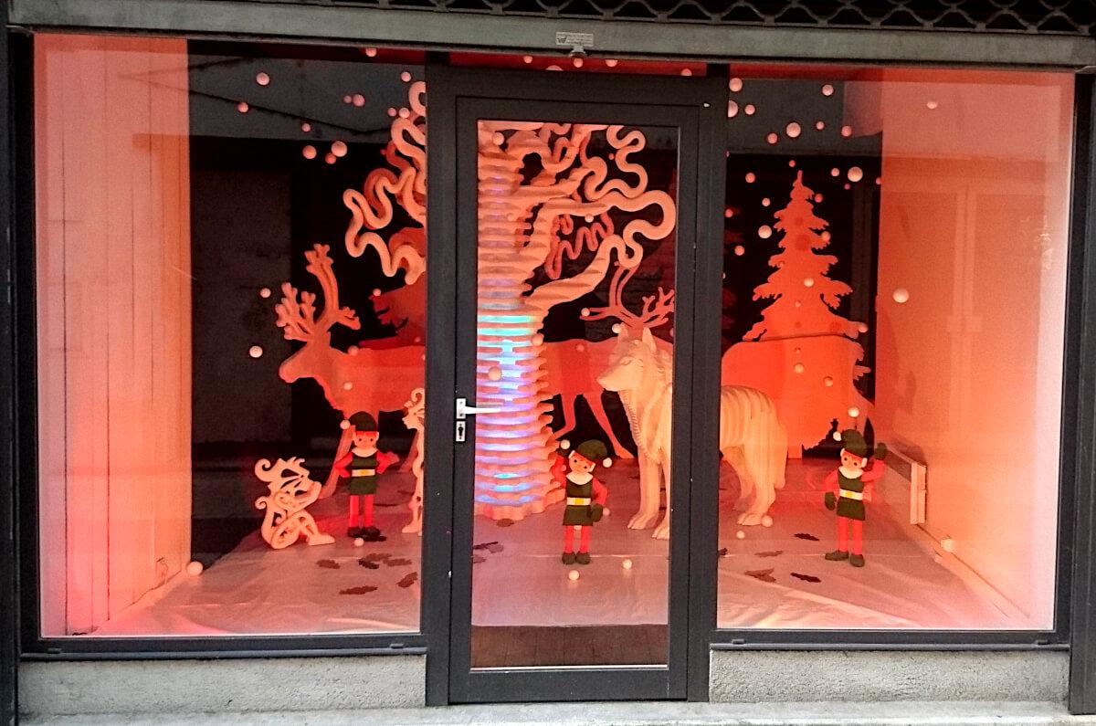 Ville de Châtellerault - Noël 2020 - Vitrine - 3 rue Colbert.