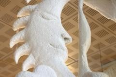 """""""Arbre Terre de Légendes"""" sculpture d'Aleksandra Foltyn-Gouin (détail) - Exposition """"Civaux terre de légendes"""" 2018."""