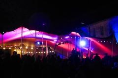 Éclairage de la tente principale et de la façade de la cour de l'Octogone - FEST'Hiver 2019 - Montmorillon (86)