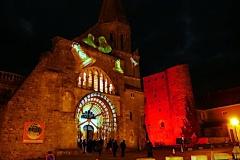 Mapping vidéo de la Chapelle Saint-Laurent par Histoire 2 Voir - Montmorillon - Fest'hiver 2020 - Polisto