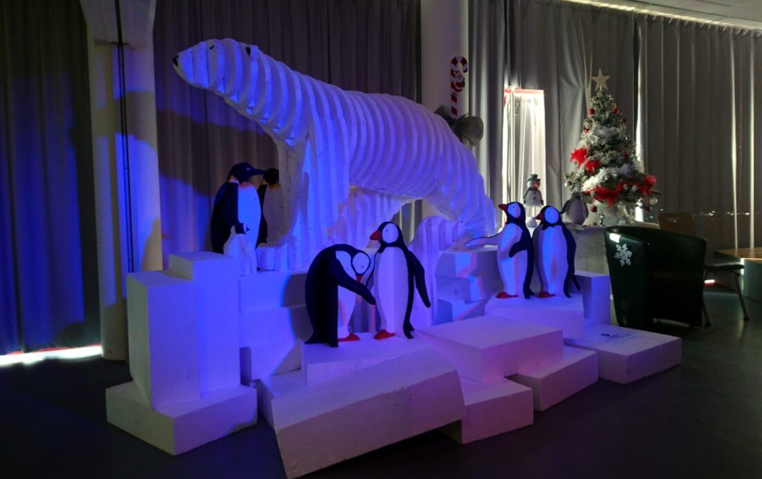 Goûter de Noël 2017 d'un comité d'entreprise (C.E) de Lathus-Saint-Rémy (86).