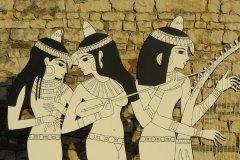 Musiciennes égyptiennes (détails) - Soirée Antique 2019 - Tours Mirandes.
