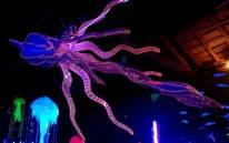 Supreme Catcher, sculpture de calamar géant en polystyrène de Polisto (2014).