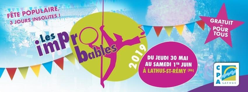 """Affiche du festival """"Les Impro'bables"""" 2019 - CPA - Lathus (86)"""