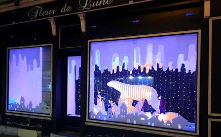 Ville de Châtellerault - Noël 2020 - Vitrine - 7 rue Alexandre Rivière